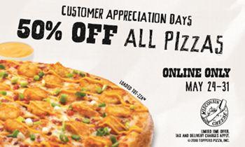 Toppers Pizza Celebrates Customer Appreciation Days