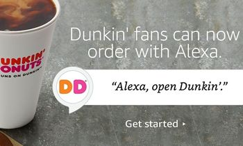 """""""Alexa, Order from Dunkin' Donuts:"""" Dunkin' Donuts Expands Order-Anywhere Accessibility with Amazon Alexa Integration"""