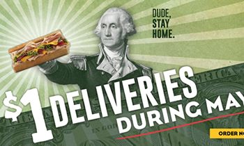 Which Wich Offers Delivery for A Dollar During Month of May