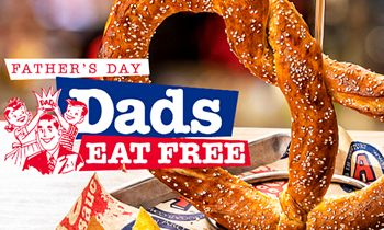 Dads Eat Free at Arooga's on Father's Day