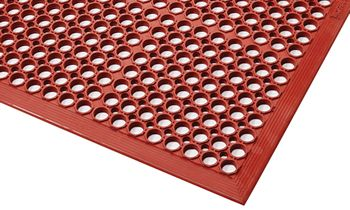 First Mats launch new CaterStep Red Nitrile Anti-Fatigue Mat, Oil and Grease Resistant
