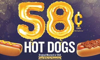 Wienerschnitzel Celebrates 58 Years with 58-Cent Chili Dogs