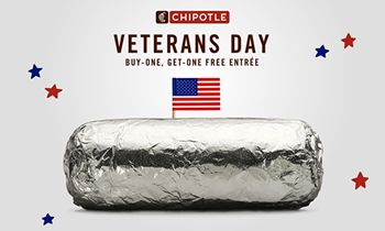 Chipotle Honors Active Military And Veterans With BOGO Deal