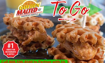 Enhance Your Takeout Menu with Golden Malted Waffles – The #1 Waffles for Restaurants & Hotels