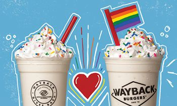 Wayback Burgers Hometown Burger Joint Shakes It Up for Pride Month