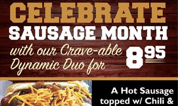 """Crave Hot Dogs and BBQ Is Ready to Celebrate """"Oktoberfest"""" Throughout October as Well as National Sausage Month!"""