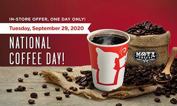 Get Your Free Coffee at Kolache Factory on National Coffee Day