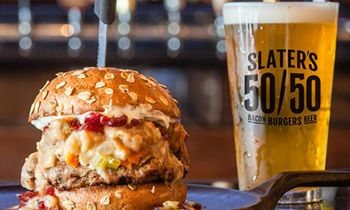 Slater's 50/50 Reintroduces Fan-Favorite Thanksgiving Burger and New Pumpkin Pie Milkshake for a Limited Time