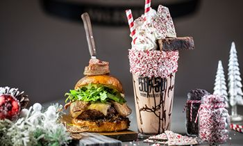 Slater's 50/50 Reintroduces 24-Karat Burger and New Peppermint Milkshake for a Limited Time