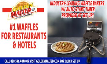 #1 Waffles for Restaurants & Hotels – Golden Malted Provides Waffle Irons with Set Up