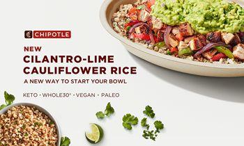 Chipotle Launches Cilantro-Lime Cauliflower Rice