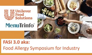 MenuTrinfo Hosted a Virtual Food Allergy Symposium Sponsored by Unilever Food Solutions