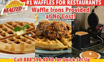 #1 Waffles for Restaurants – Waffle Irons at No Cost with Golden Malted