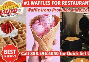 #1 Waffles for Restaurants – Golden Malted Provides Waffle Irons at Set Up
