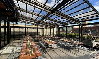 Morgan's on Fulton's New Retractable Glass Roof System
