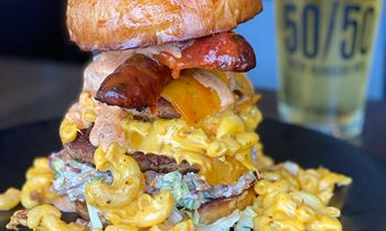 Over-the-Top 'Merica Burger Returns to Menu at Slater's 50/50 for a Limited Time