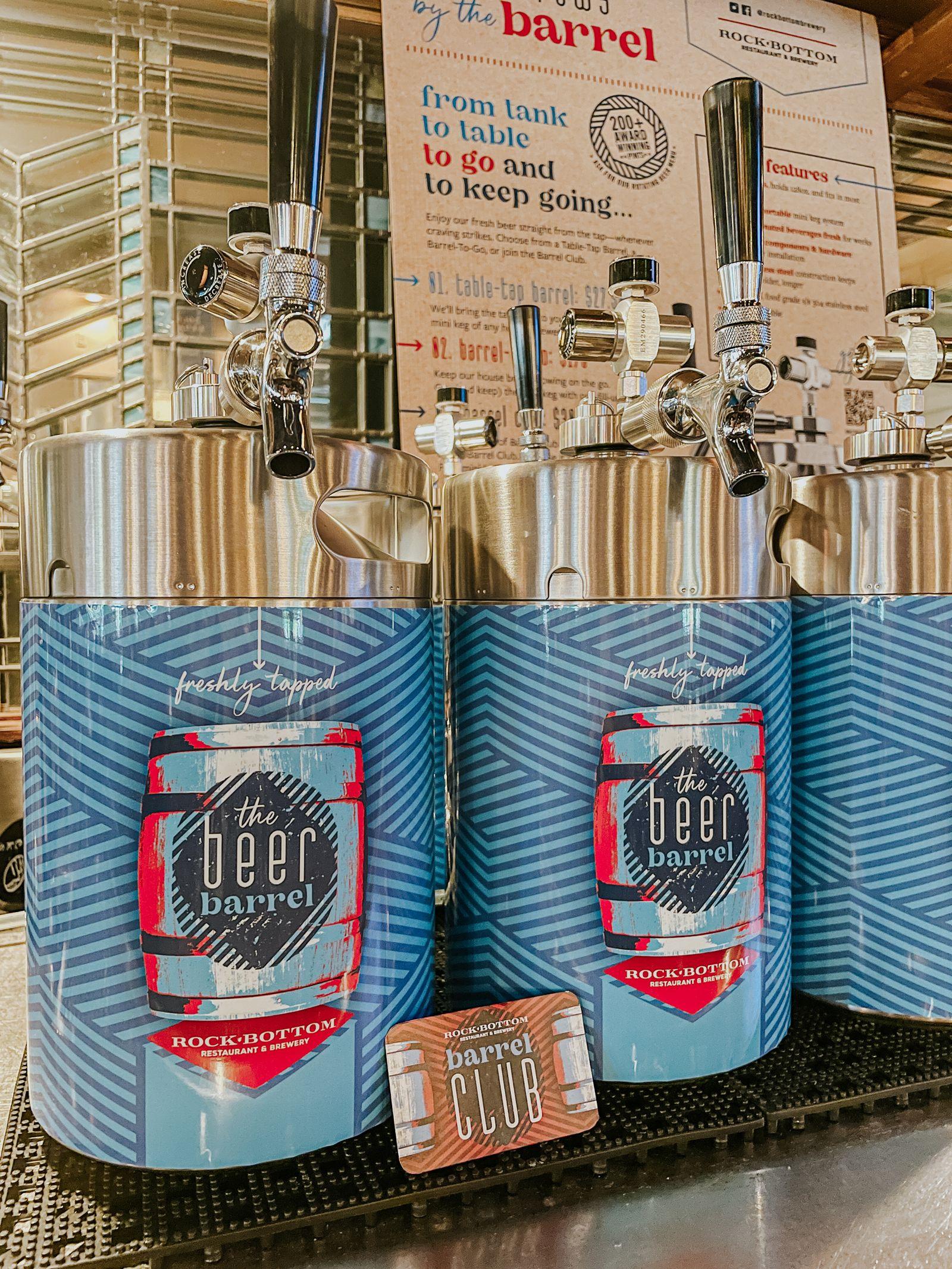 Rock Bottom Debuts Beer Club with 'First-Of-Its-Kind' Mini Keg Beer Barrels