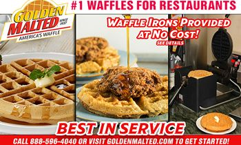 Add America's #1 Waffles to Your Menu – Waffle Irons Provided at No Cost with Golden Malted
