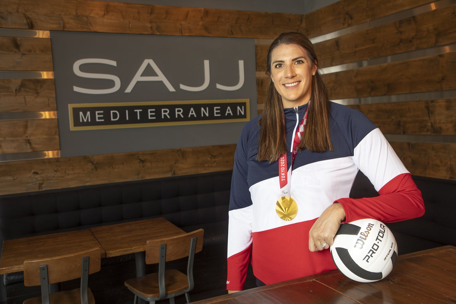 SAJJ Mediterranean has announced its newest partnership with Katie Holloway, Tokyo 2020 Paralympic Gold Medalist, to bring support to the Riekes Center in Menlo Park, CA.