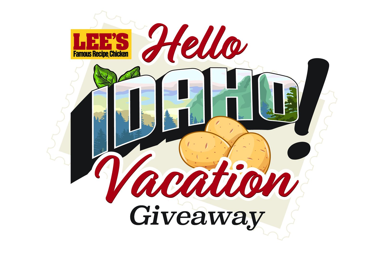 Lee's Famous Recipe Chicken and Idahoan Mashed Potatoes Offer Hello Idaho Vacation Giveaway
